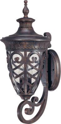 Filament Design 3-Light Dark Plum Bronze Outdoor Wall Sconce