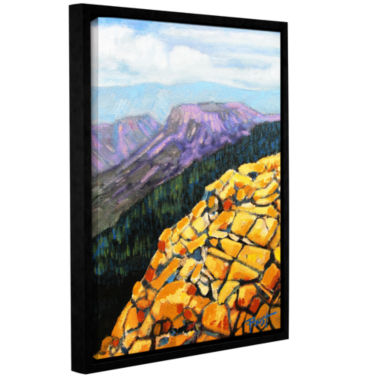 Brushstone Brushstone Yellow Brick Road Gallery Wrapped Floater-Framed Canvas Wall Art