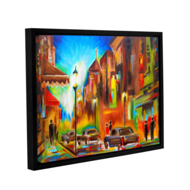 Brushstone Brushstone Twilight in Treviso GalleryWrapped Floater-Framed Canvas Wall Art
