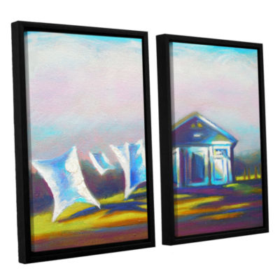 Brushstone March Laundry 2-pc. Floater Framed Canvas Wall Art