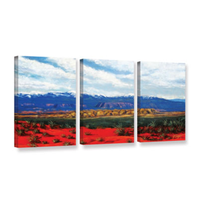 Brushstone Brushstone Mountain Side Livng 3-pc. Gallery Wrapped Canvas Wall Art