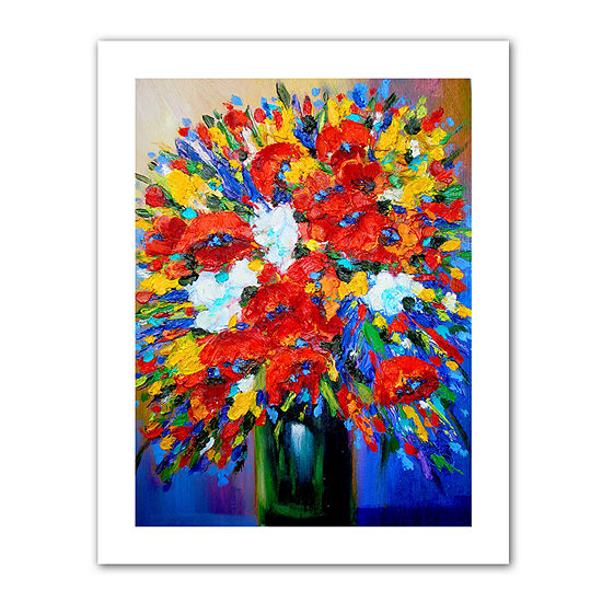 Brushstone Happy Foral Canvas Wall Art