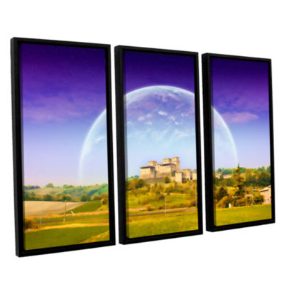 Brushstone Brushstone Keys to Imagination VI 3-pc.Floater Framed Canvas Wall Art