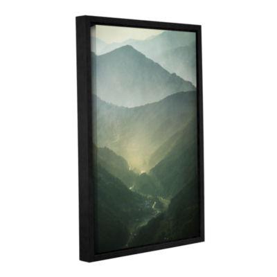 Brushstone Brushstone Sunrise Valley Gallery Wrapped Floater-Framed Canvas Wall Art