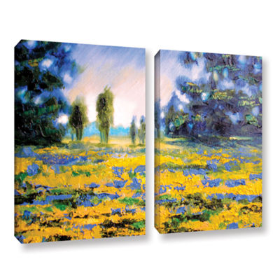 Brushstone Sea of Butter 2-pc. Gallery Wrapped Canvas Wall Art