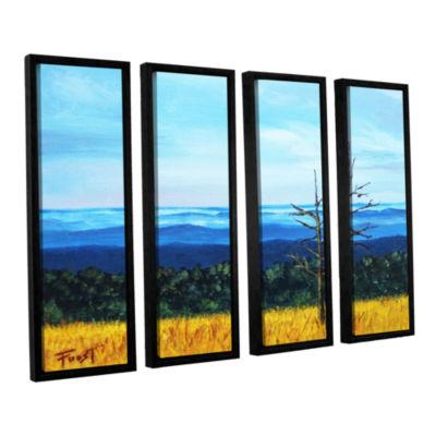 Brushstone Serene Mountain Tops 4-pc. Floater Framed Canvas Wall Art