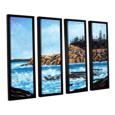 Brushstone Brushstone Roll Tide 4-pc. Floater Framed Canvas Wall Art