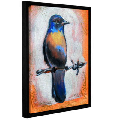 Brushstone Brushstone Bird on a Wire Gallery Wrapped Floater-Framed Canvas Wall Art