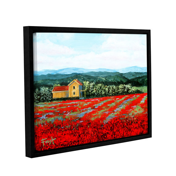 Brushstone Paradise Gallery Wrapped Framed CanvasWall Art