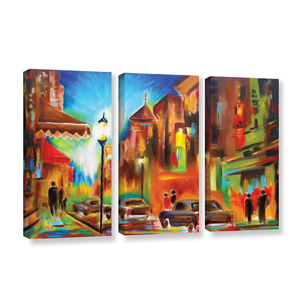 Brushstone Brushstone Twilight in Treviso 3-pc. Gallery Wrapped Canvas Wall Art