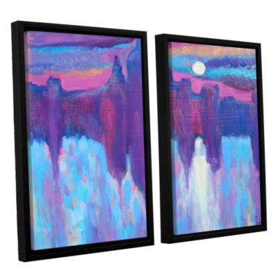 Brushstone Venice 2-pc. Floater Framed Canvas WallArt