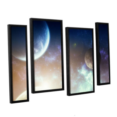 Brushstone Brushstone Nova 4-pc. Floater Framed Staggered Canvas Wall Art