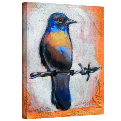 Brushstone Brushstone Bird on a Wire Gallery Wrapped Canvas Wall Art