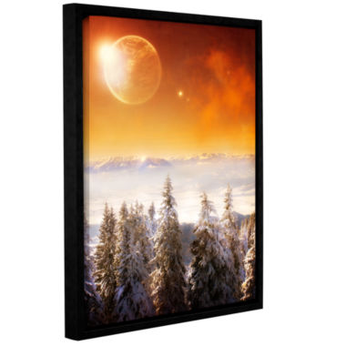 Brushstone Golden Eclipse II Gallery Wrapped Floater-Framed Canvas Wall Art