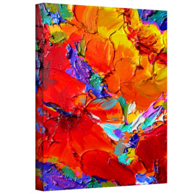 Brushstone Brushstone Charlits Floral Gallery Wrapped Canvas Wall Art