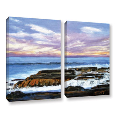 Brushstone Serene Mountain Tops 2-pc. Canvas Art