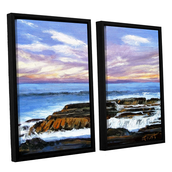 Brushstone Rolling Water 2-pc. Floater Framed Canvas Wall Art