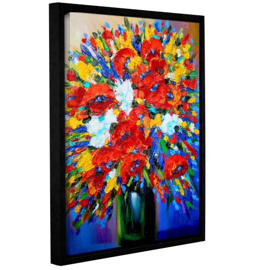 Brushstone Happy Foral Gallery WrappedFloater-Framed Canvas Wall Art