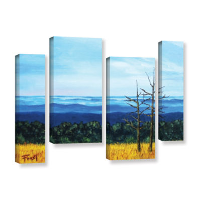 Brushstone Brushstone Serene Mountain Tops 4-pc. Gallery Wrapped Staggered Canvas Wall Art