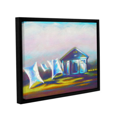 Brushstone March Laundry Gallery Wrapped Floater-Framed Canvas Wall Art