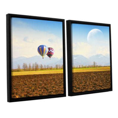Brushstone Surreal September 2-pc. Floater FramedCanvas Wall Art