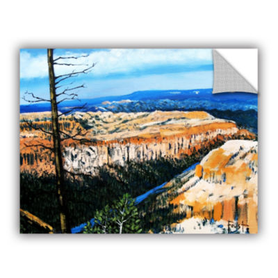 Brushstone Mountain Tops Blue Sky Removable Wall Decal