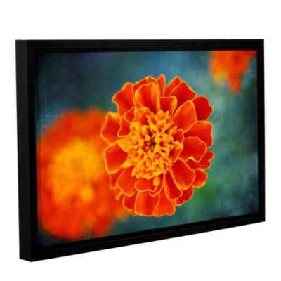 Brushstone Brushstone One in Orange Gallery Wrapped Floater-Framed Canvas Wall Art