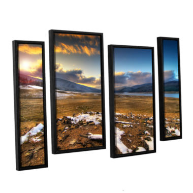 Brushstone Brushstone The Winter Sun 4-pc. FloaterFramed Staggered Canvas Wall Art
