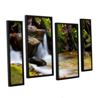 Brushstone Brushstone Timeless Forest 4-pc. Floater Framed Staggered Canvas Wall Art