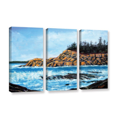 Brushstone Brushstone Roll Tide 3-pc. Gallery Wrapped Canvas Wall Art