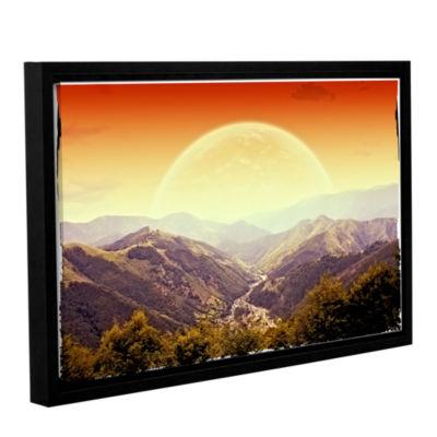 Brushstone Highland Sunset Gallery Wrapped Floater-Framed Canvas Wall Art