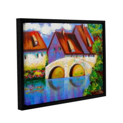 Brushstone Brushstone German Village on Rhine Gallery Wrapped Floater-Framed Canvas Wall Art