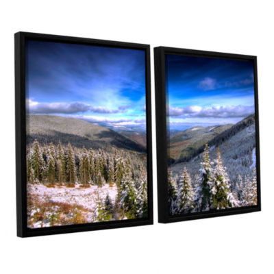 Brushstone Winter Vision 2-pc. FloaterFramed Canvas Wall Art