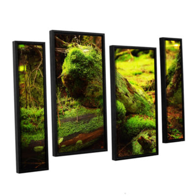 Brushstone Brushstone Into the Greens 4-pc. Floater Framed Staggered Canvas Wall Art