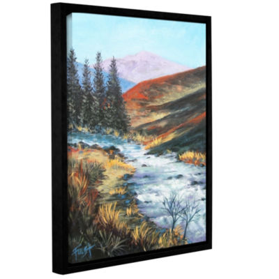 Brushstone Brushstone Rolling Rapids Gallery Wrapped Floater-Framed Canvas Wall Art