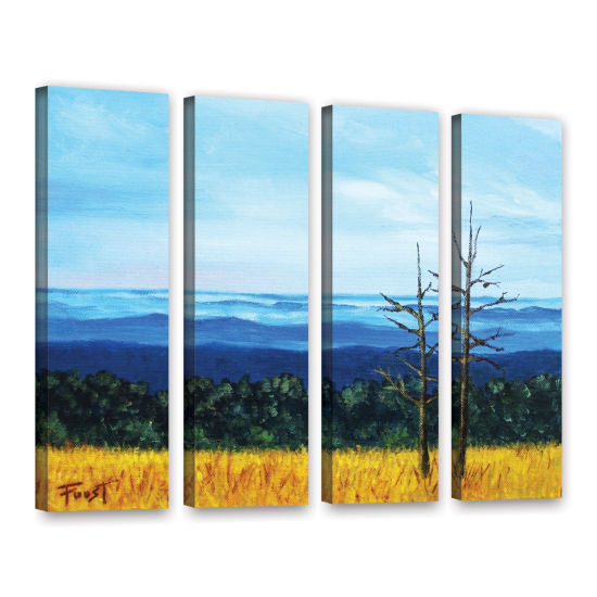 Brushstone Serene Mountain Tops 4-pc. Gallery Wrapped Canvas Wall Art