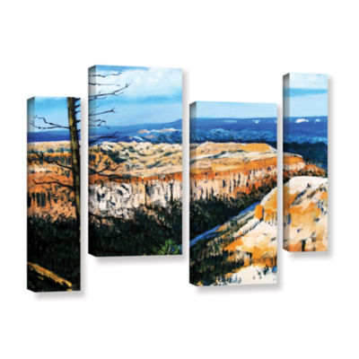 Brushstone Brushstone Mountain Tops Blue Sky 4-pc.Gallery Wrapped Staggered Canvas Wall Art