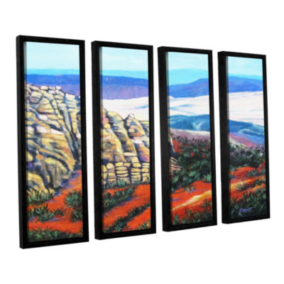 Brushstone Rocky Mountain Living 4-pc.Floater Framed Canvas Wall Art