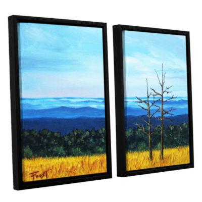 Brushstone Serene Mountain Tops 2-pc. Floater Framed Canvas Wall Art