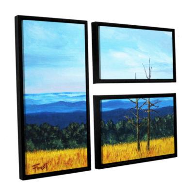 Brushstone Brushstone Serene Mountain Tops 3-pc. Floater Framed Canvas Wall Art