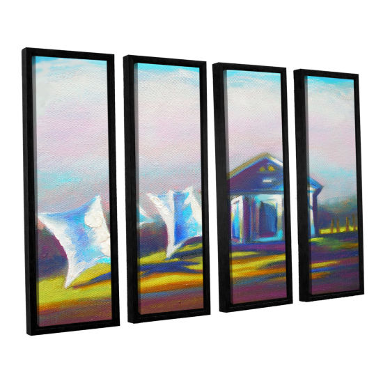 Brushstone Brushstone March Laundry 4-pc. FloaterFramed Canvas Wall Art