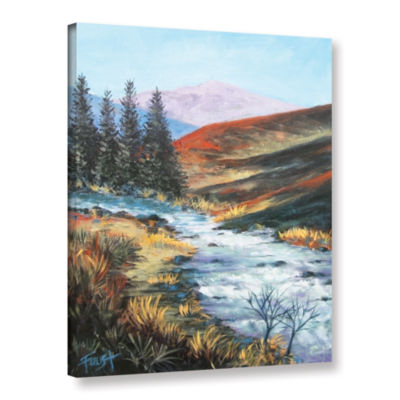 Brushstone Rolling Rapids Gallery Wrapped Canvas Wall Art