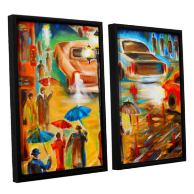 Brushstone In Italy Even Rain is Beautiful 2-pc. Floater Framed Canvas Wall Art