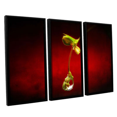 Brushstone Brushstone Tears in the Rain 3-pc. Floater Framed Canvas Wall Art