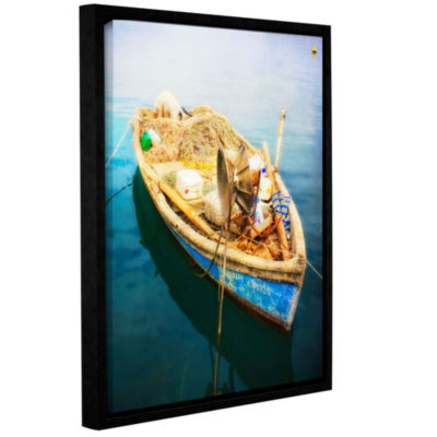 Brushstone Brushstone Old Fishermans Boat GalleryWrapped Floater-Framed Canvas Wall Art