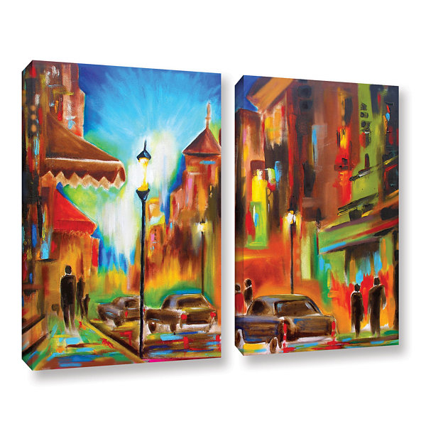 Brushstone Twilight in Treviso 2-pc. Gallery Wrapped Canvas Wall Art
