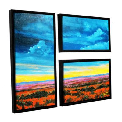 Brushstone Brushstone Riders on the Storm 3-pc. Floater Framed Canvas Wall Art