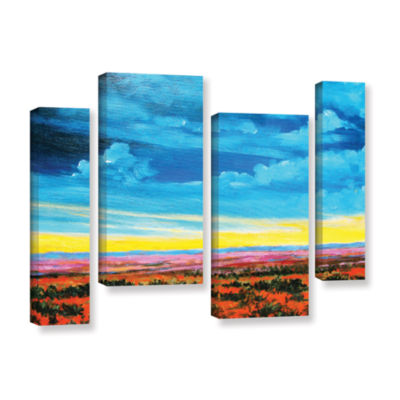 Brushstone Riders on the Storm 4-pc. Gallery Wrapped Staggered Canvas Wall Art