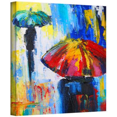 Brushstone Brushstone Red Umbrella Gallery WrappedCanvas Wall Art