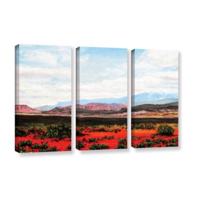 Brushstone Brushstone Joyride 3-pc. Gallery Wrapped Canvas Wall Art